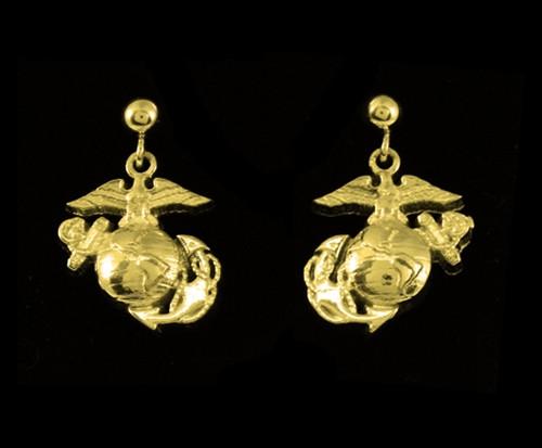 USMC 10k Gold EGA Earrings