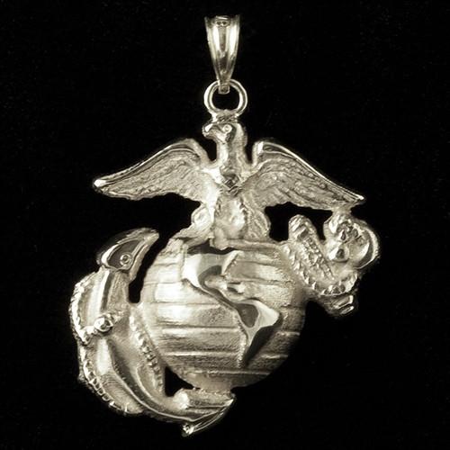 USMC Eagle Globe & Anchor Sterling Silver Pendant
