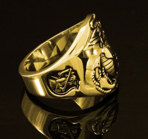 The Walking Dead US Marine Corps Ring Solid and Made by a 1/9er for 1/9ers