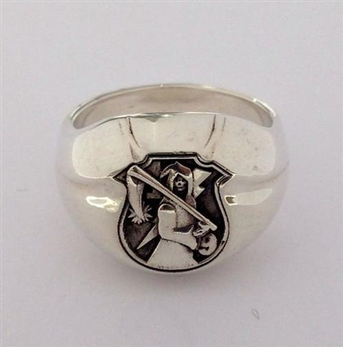 USMC Sterling Silver  The Walking Dead Signet Ring