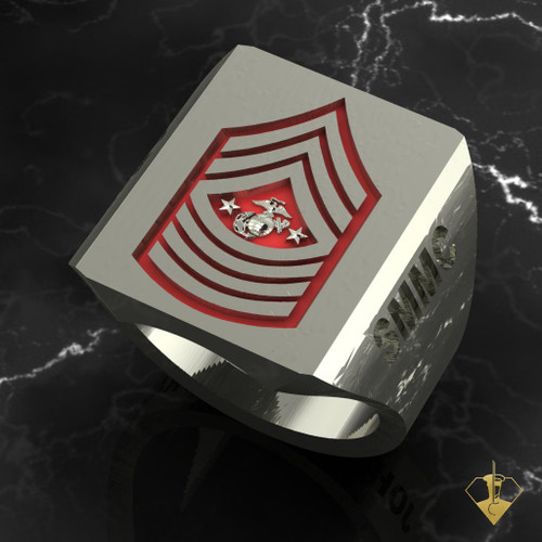 """Sargent Major of The Marine Corps   """"Made by Marines for Marines"""" available in Sterling Silver, 10k, 14k and 18k White or Yellow gold.  Black or Red Enamel Background   100% Satisfaction Guaranteed"""
