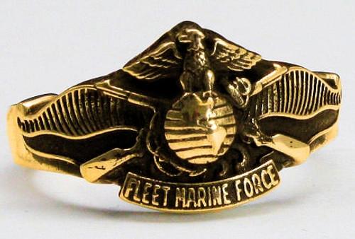 USMC FMF Marine 10k Gold Ring