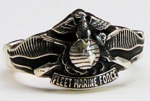 USMC Fleet Marine Force Sterling Silver Ring