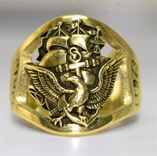 US Navy Gold Ring