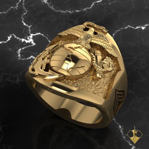US Marine Corps Cusotom Designed Ring