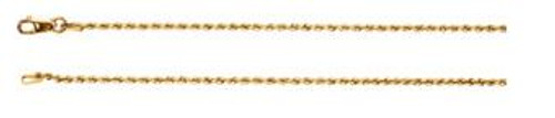 "14K Yellow 1.5mm Rope 18"" Chain"