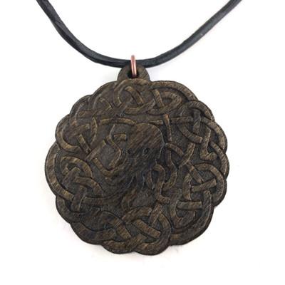 Oddities accessories jewelry page 1 arkham bazaar cthulhu knot wooden pendant aloadofball Choice Image