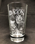 Dagon Stout etched Beer Glass