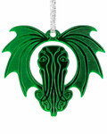 Green Cthulhu Halo holiday ornament