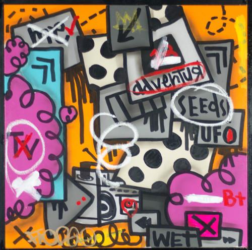 20 x 20 Mixed Media On Framed Canvas