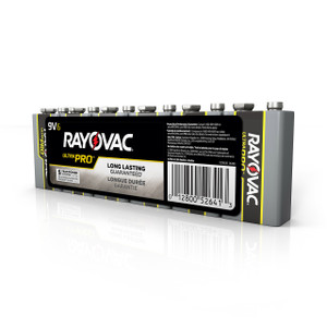 9V Alkaline Battery 6 Pack