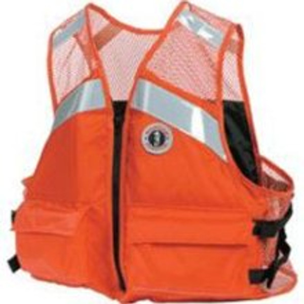 Industrial Mesh Vest Flotation Device by Mustang Survival
