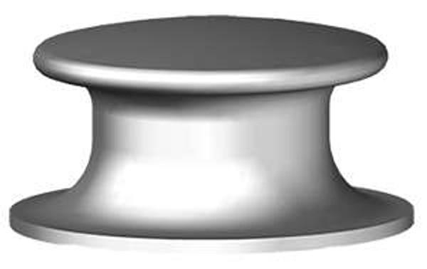 """Button Chock - 10"""" Cast Steel"""