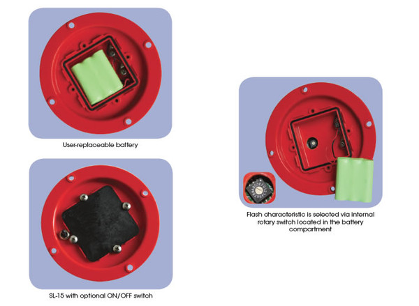 Sealite SL-15-SW Solar Powered Navigation Light with Switch