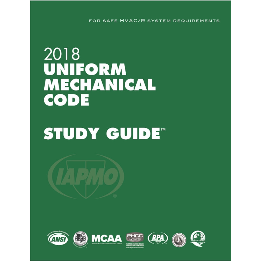 2018 Uniform Mechanical Code Study Guide - ISBN#9781944366193