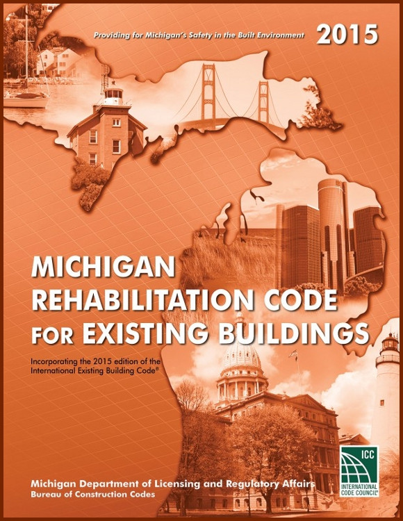 2015 Michigan Rehabilitation Code for Existing Buildings - ISBN#9781609836795
