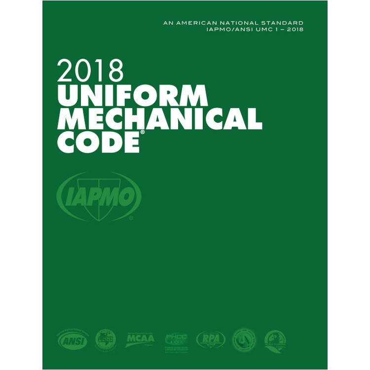 2018 Uniform Mechanical Code - ISBN#9781944366087