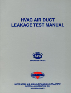 Hvac Air Duct Leakage Test Manual Smacna 1143