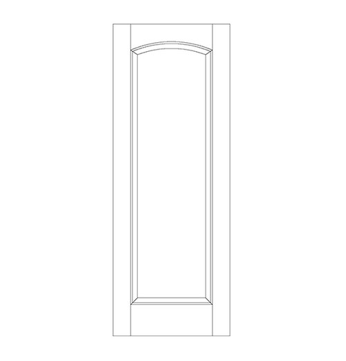 1-Panel Wood Door (DR1100)