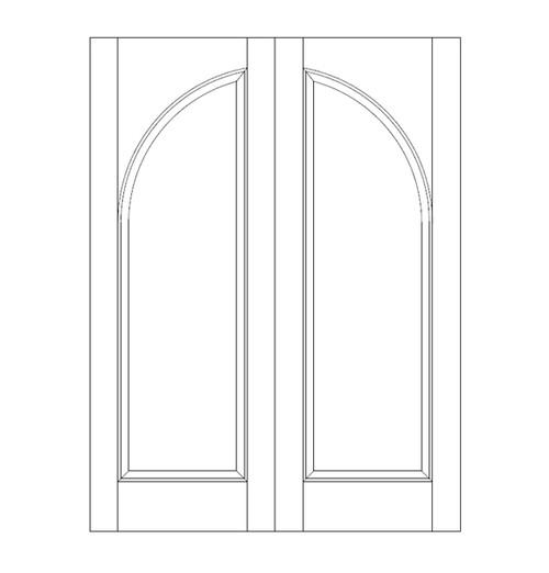 1-Panel Wood Door (DR1200CA)