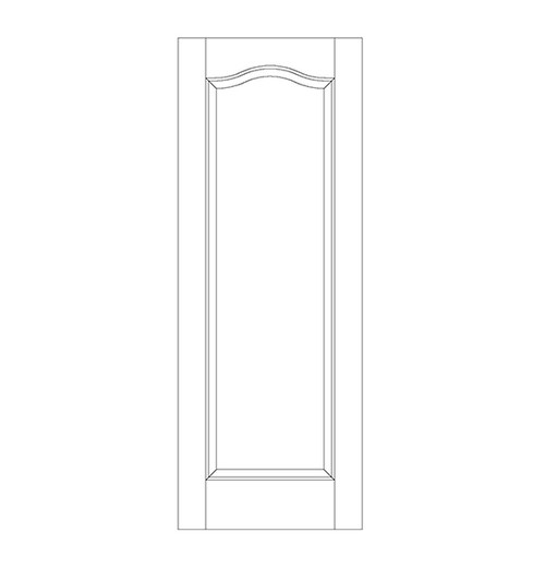 1-Panel Wood Door (DR1300)