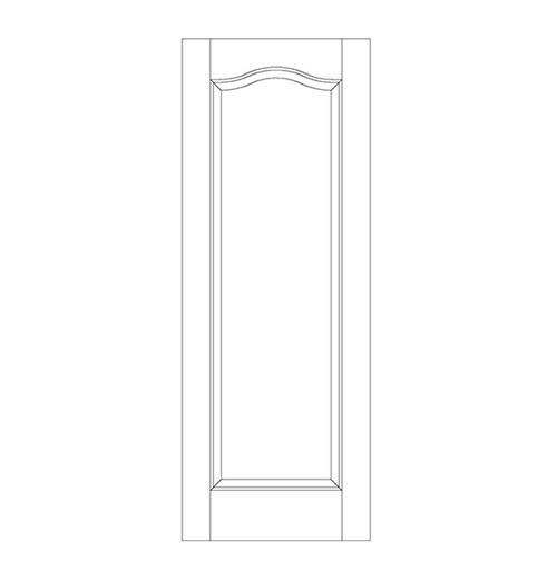 1-Panel Wood Door (DR1300)