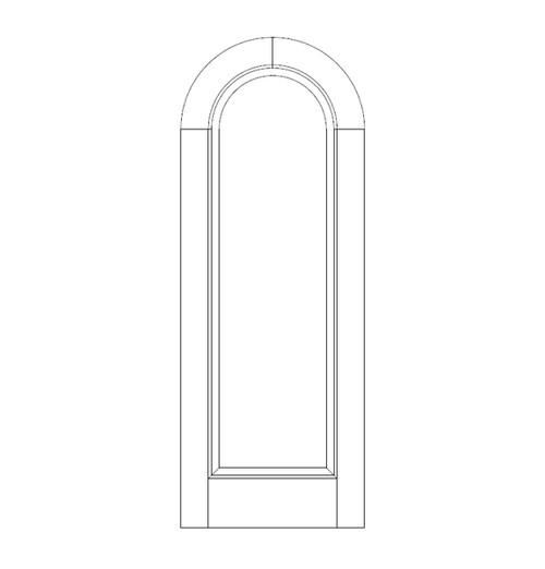 1-Panel Wood Door (DR1600)