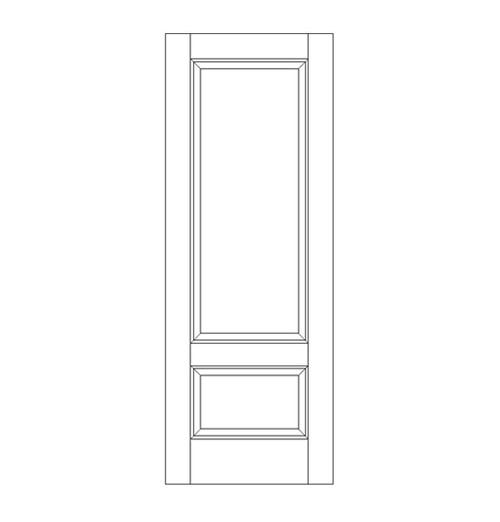 2-Panel Wood Door (DR2060)