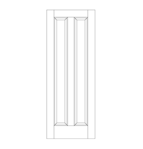 2-Panel Wood Door (DR2080)