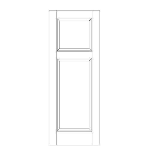 2-Panel Wood Door (DR2090)