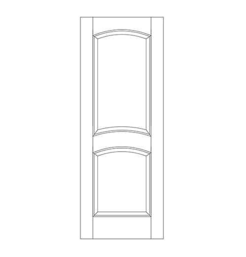 2-Panel Wood Door (DR2110)