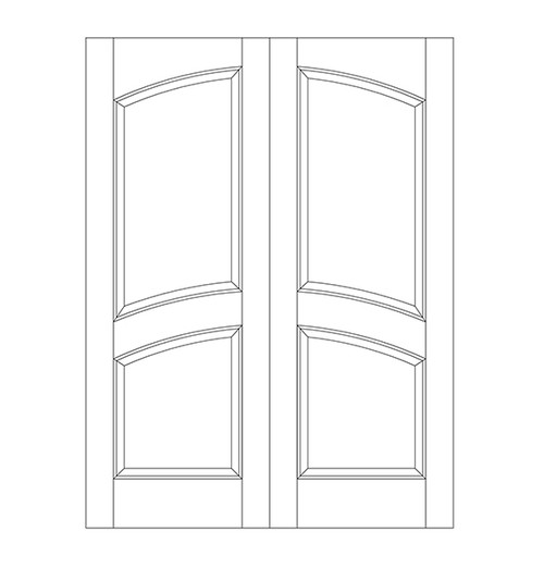 2-Panel Wood Door (DR2110CA)