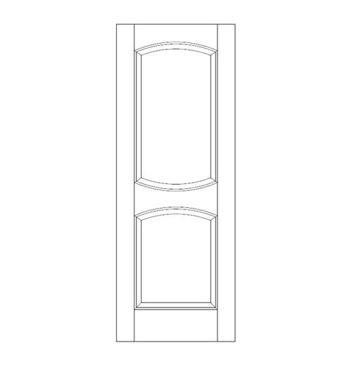 2-Panel Wood Door (DR2120)