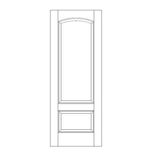 2-Panel Wood Door (DR2160)