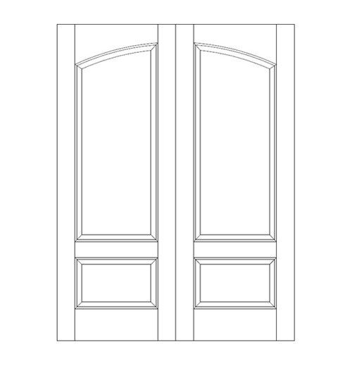 2-Panel Wood Door (DR2160CA)