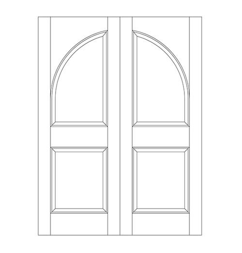 2-Panel Wood Door (DR2200CA)