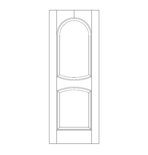 2-Panel Wood Door (DR2210)