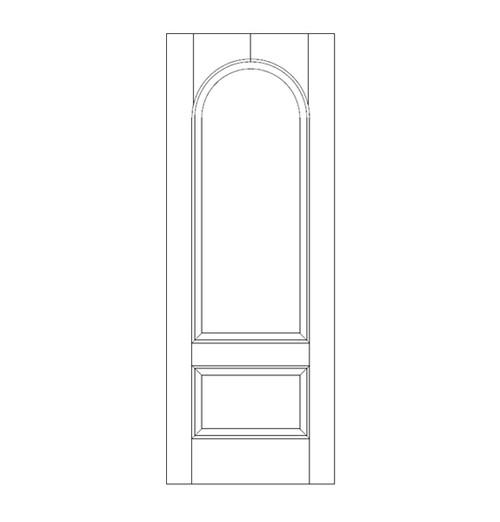 2-Panel Wood Door (DR2260)