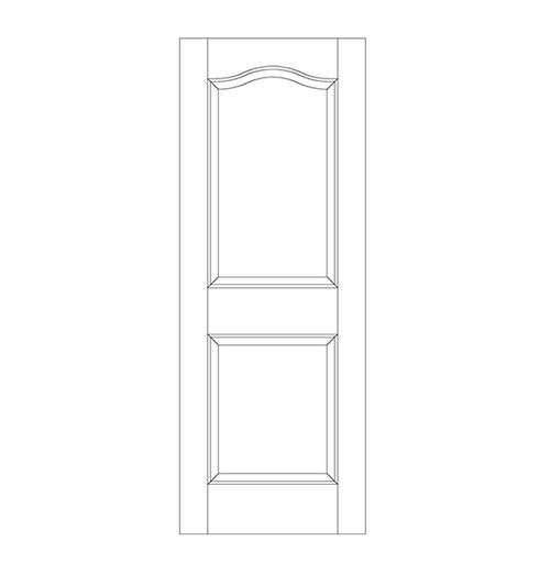 2-Panel Wood Door (DR2300)