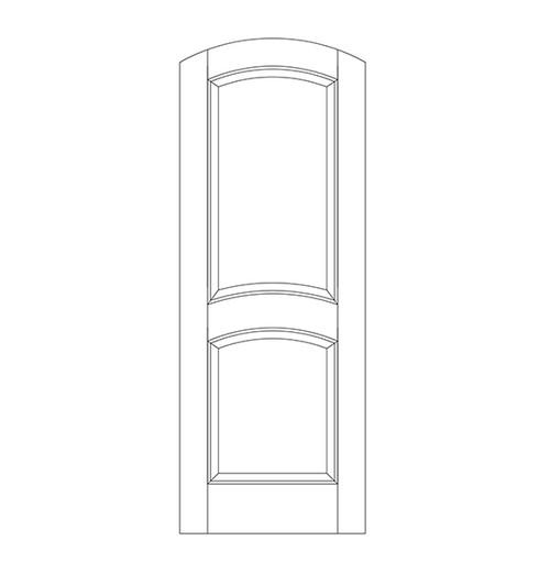 2-Panel Wood Door (DR2510)