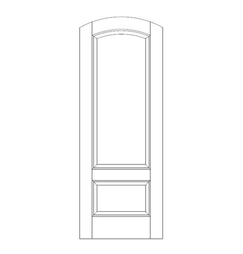 2-Panel Wood Door (DR2560)