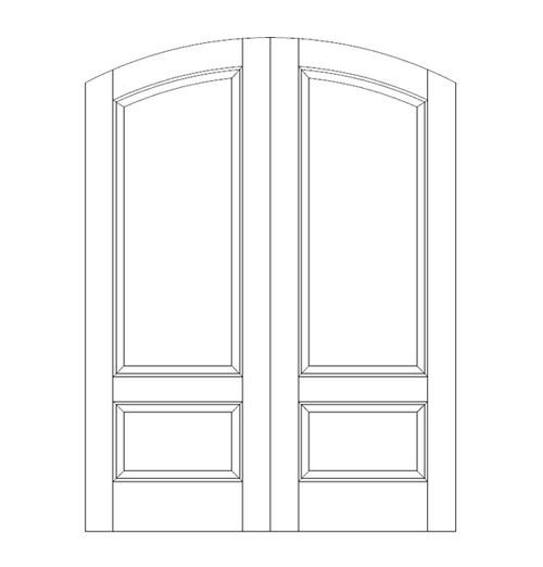 2-Panel Wood Door (DR2560CA)