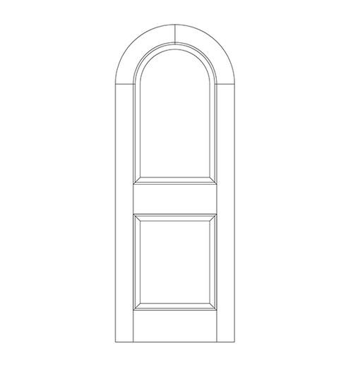 2-Panel Wood Door (DR2600)