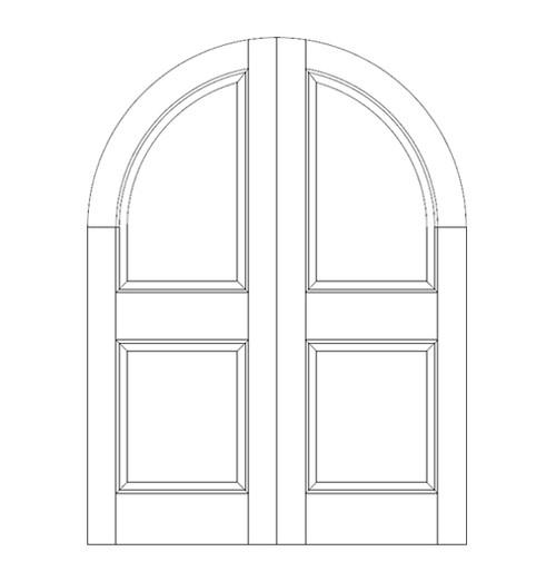 2-Panel Wood Door (DR2600CA)