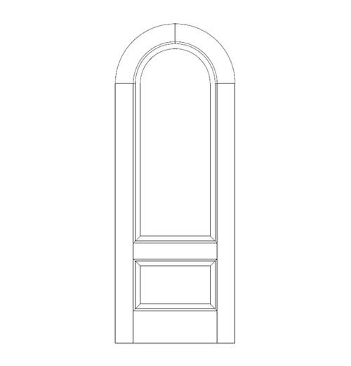 2-Panel Wood Door (DR2660)
