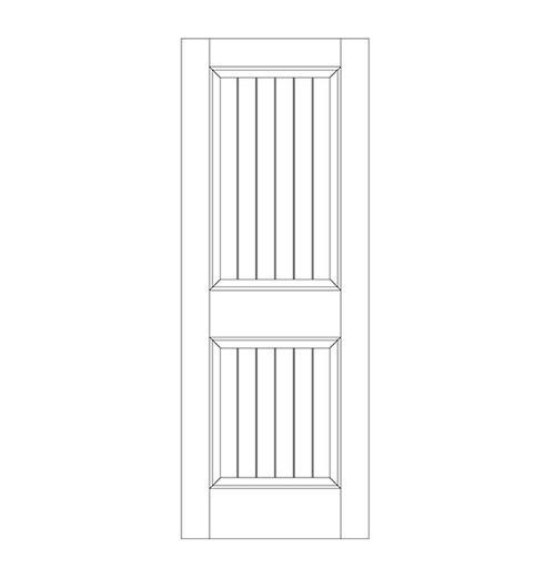 2-Panel Wood Door (DV2000)