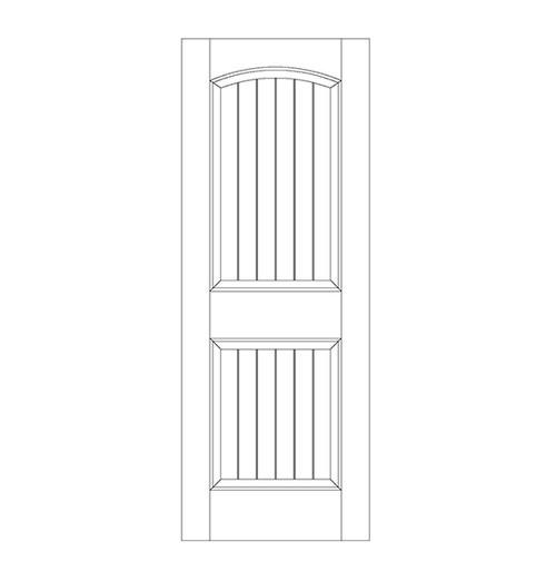 2-Panel Wood Door (DV2100)