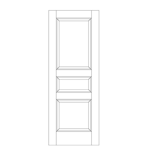 3-Panel Wood Door (DR3000)