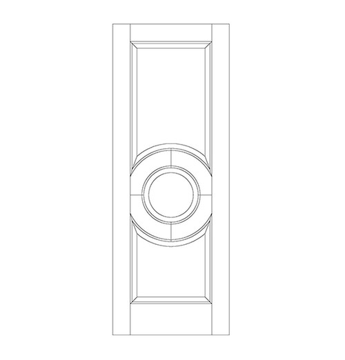 3-Panel Wood Door (DR3050)
