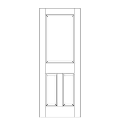 3-Panel Wood Door (DR3060)
